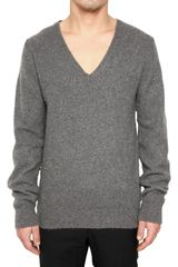 Marc Jacobs Pilled Cashmere V-neck Sweater