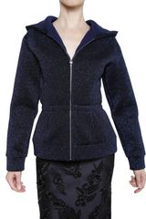 Marc Jacobs Hoody Zipped Lurex Sweatshirt - Lyst