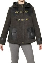 Mulberry Nappa & Wool Tweed Coat - Lyst