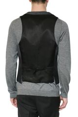 Neil Barrett Degrade Herringbone Wool Vest in Gray for Men (grey) - Lyst