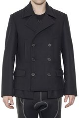 Neil Barrett Compact Wool Double Breasted Jacket - Lyst