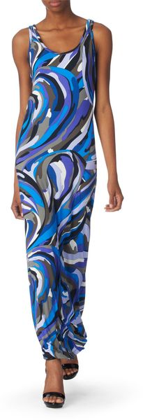 Pucci Printed Maxi Dress - Lyst