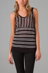 T By Alexander Wang Striped Tank - Lyst