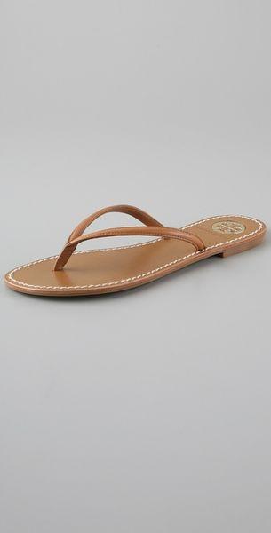 Tory Burch Brown Flip Flops