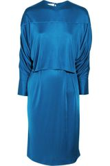 Yves Saint Laurent Satin-Jersey Dress - Lyst