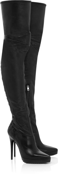 Burberry Nappa Leather Thigh-high Boots - Lyst