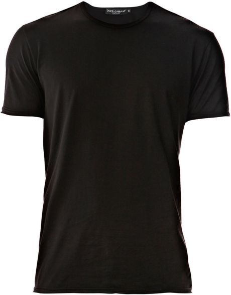 dolce gabbana crew neck t shirt in black for men lyst