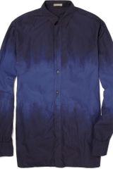 Bottega Veneta Dip Dyed Cotton Shirt - Lyst