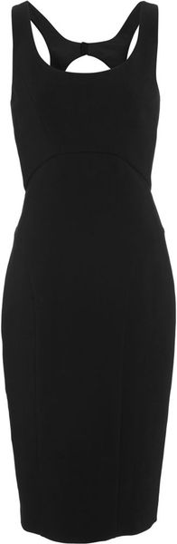 Narciso Rodriguez Cut Out Back Dress in Black - Lyst