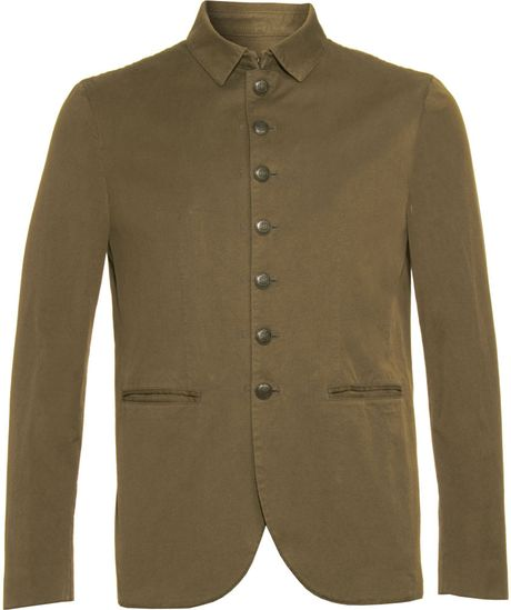 John Varvatos Multi-button Jacket in Green for Men (khaki) - Lyst