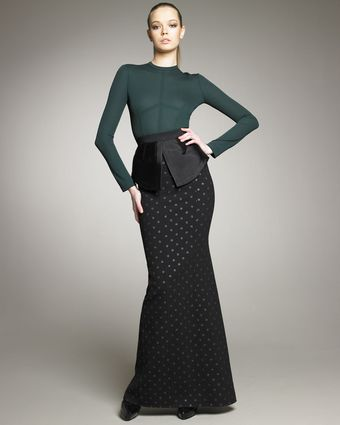 Marc Jacobs Polka-dot Crepe Mermaid Skirt - Lyst