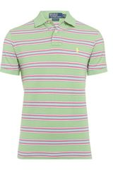 Polo Ralph Lauren Custom Fit Stripe Polo Shirt - Lyst