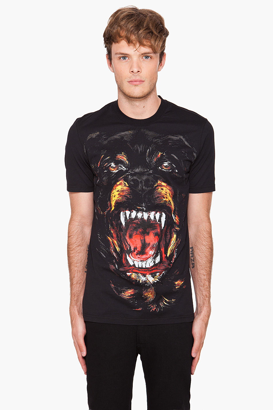 givenchy rottweiler tee in black for men lyst