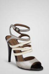 Bottega Veneta Light Titanium Buttermilk Ayers Sandal - Lyst