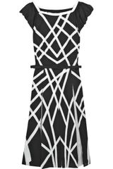 Catherine Malandrino Geometric Paneled Silk Dress - Lyst