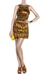 Diane Von Furstenberg Asuka Silk Shift Dress in Yellow - Lyst