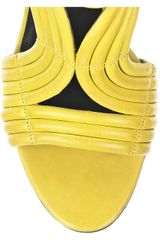 Elizabeth And James Star Ribbed Leather Sandals in Yellow - Lyst