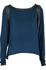 Foley + Corinna Crystal-embellished Cutout Jersey Top - Lyst
