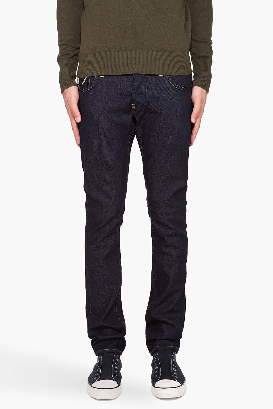 g star raw defend super slim jeans in blue for men lyst. Black Bedroom Furniture Sets. Home Design Ideas