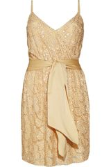 Halston Heritage Bead-embellished Lace Dress - Lyst