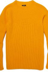 Jil Sander Ribbed Wool Sweater in Yellow for Men (orange) - Lyst