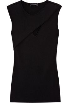 Narciso Rodriguez Cutout Wool-blend Top - Lyst