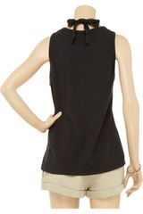 Sonia By Sonia Rykiel Crystalembellished Cotton Tank in Black - Lyst