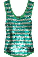 Sonia By Sonia Rykiel Sequined Cotton Tank - Lyst