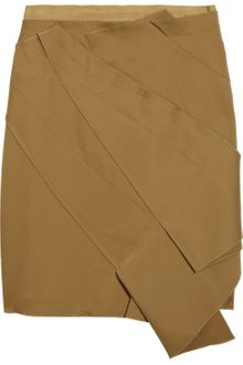 Zac Posen Pleated Crepe Skirt - Lyst