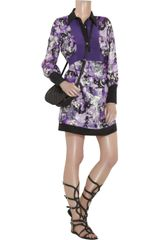 Anna Sui Celestial Circus Shirt Dress in Purple - Lyst
