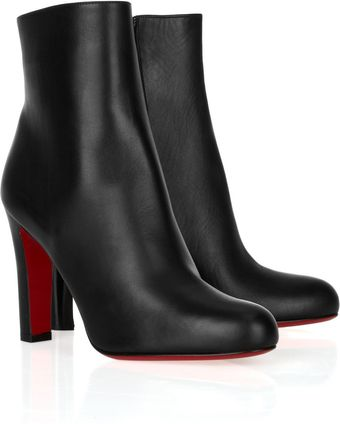 Christian Louboutin Miss Tack 100 Leather Ankle Boots - Lyst