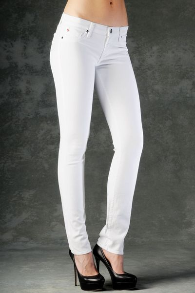 Hudson May Five Pocket Skinny in White - Lyst