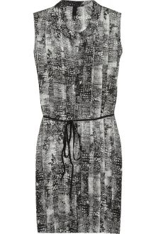 Edun Printed Silk-georgette Dress - Lyst