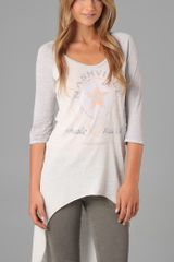 Free People The Concert Raglan in Ivory - Lyst