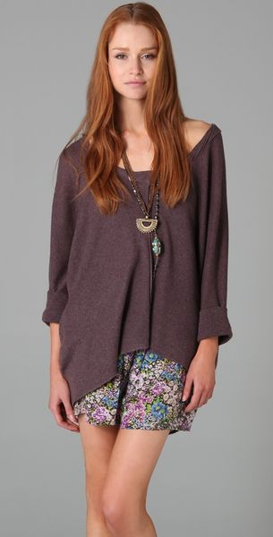 Free People Quincy Willow Breeze Sweater - Lyst
