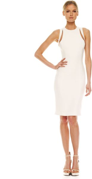 Michael Kors Illusion Cutout-shoulder Dress - Lyst