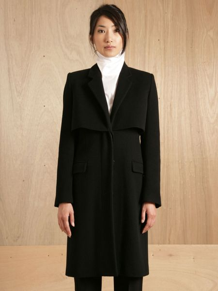 Persona Womens Black Wool Cashmere Coat Jacket Made Italy - Coats
