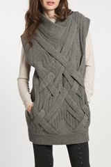 3.1 Phillip Lim 3d Cable Tunic in Grey Melange - Lyst
