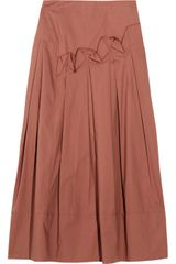 Marni Pleated Cotton Skirt - Lyst