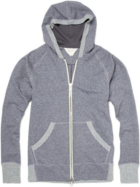 Rag & Bone Zip Up Hoodie in Gray for Men | Lyst