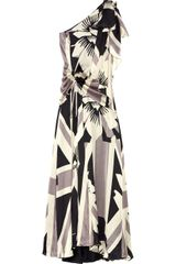 Temperley London Neve Printed Silk One-shoulder Gown - Lyst