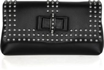 Christian Louboutin Sweet Charity Optic Studded Leather Clutch - Lyst