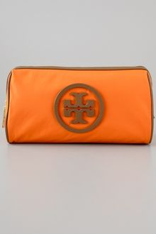 Tory Burch Stacked Logo Large Slouchy Cosmetic Case - Lyst