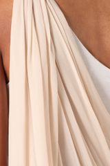 Alice + Olivia Draped One Shoulder Dress in White (nude) - Lyst
