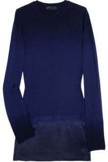 Burberry Prorsum Silk-panel Wool and Cashmere-blend Sweater - Lyst
