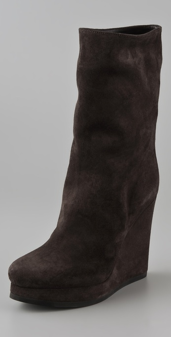 Jil Sander Mid-Calf Wedge Boots cheap sale discount shopping online cheap online choice for sale SXvKVS