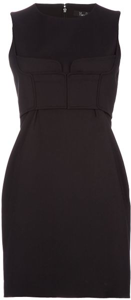 Marios Schwab Fitted Sleeveless Dress in Black - Lyst