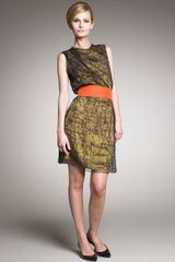 Bottega Veneta Lace Abstract Dress - Lyst