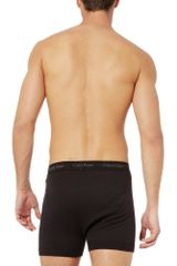 Calvin Klein Two Pack Boxer Briefs in Black for Men - Lyst