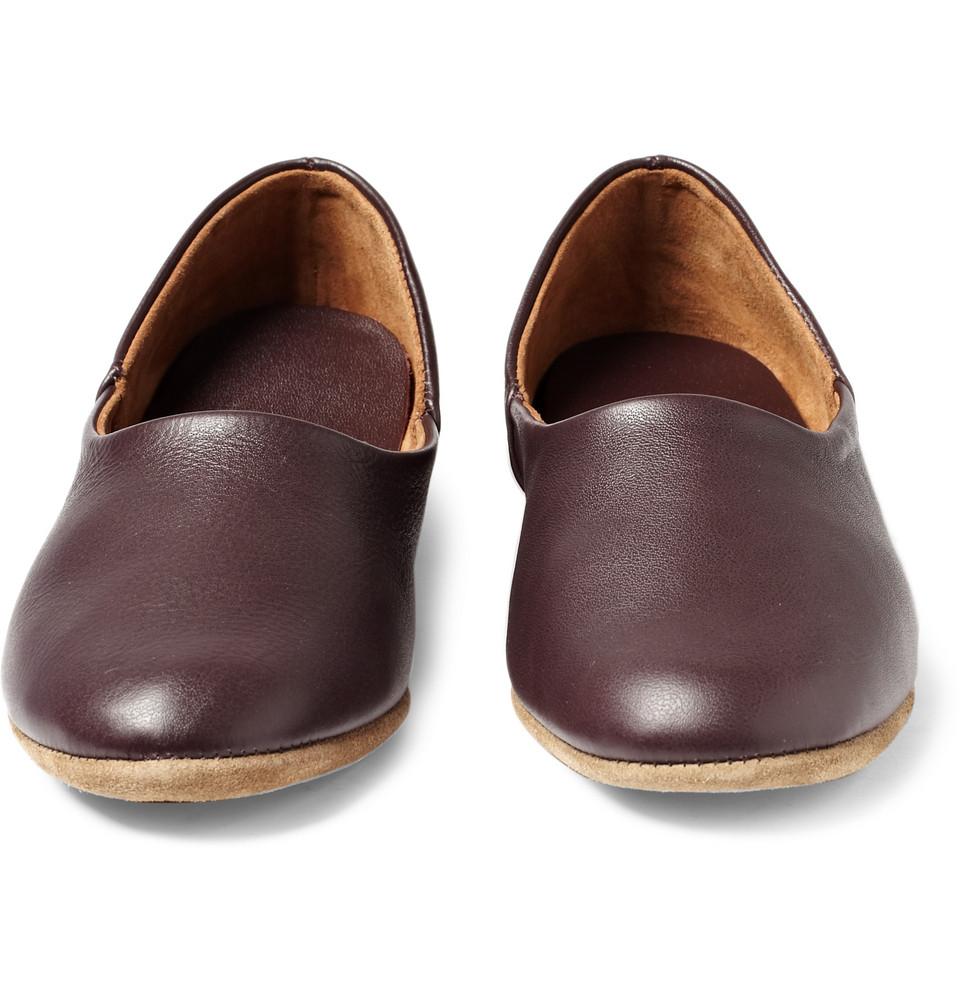 7312bc6c79bde Lyst - Derek Rose Gower Leather Slippers in Brown for Men